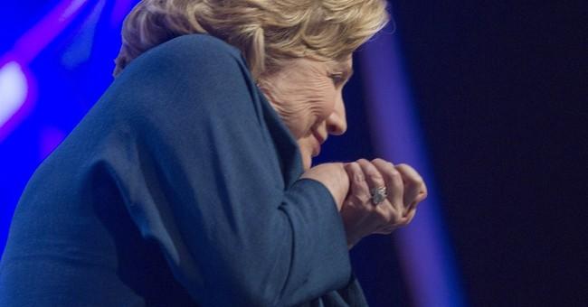 Hillary Clinton Dodges A Shoe