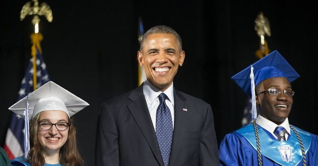 Obama Tells Graduates to Go Vote Democrat