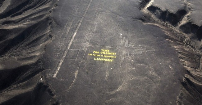 Irony Alert: Greenpeace Wrecks Ancient Peruvian Site