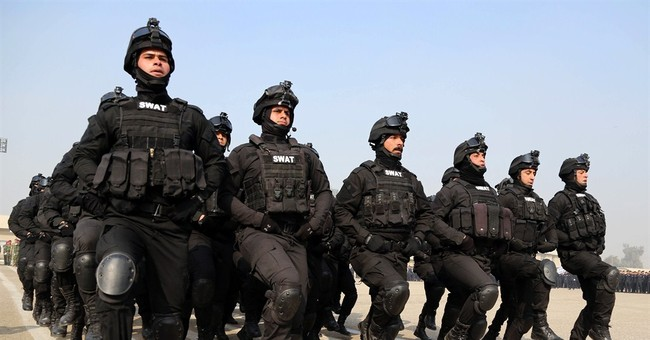 American police uniform swat