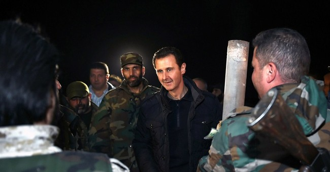 Syrian president visits front on New Year's Eve
