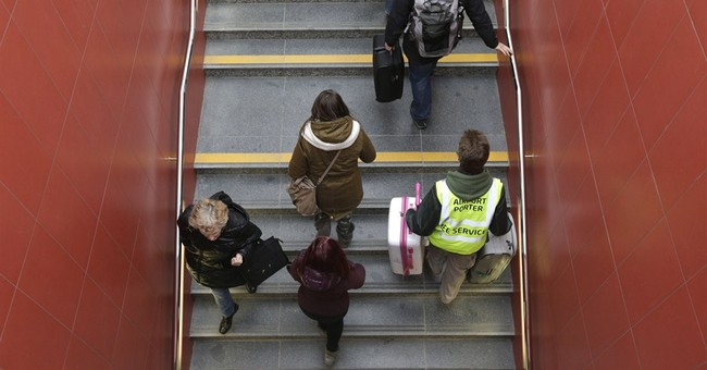 Escalator missing en route to Prague airport