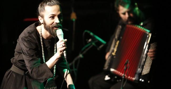 Cross-dressing singer wins hearts in macho Bosnia