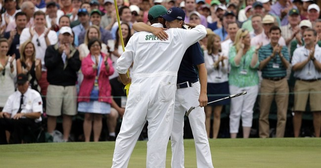 Teacher goes from spectator to Masters champion caddie