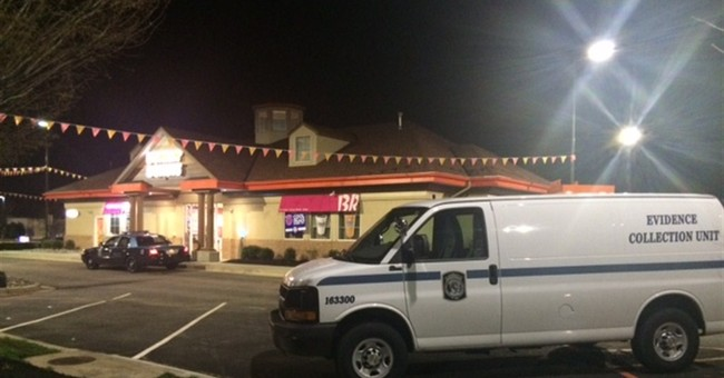 Man killed wife at Dunkin' Donuts shop, police say