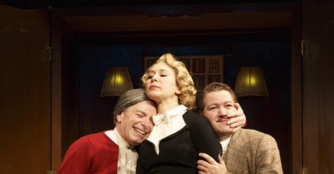 Review: '39 Steps' back in NY with good cheer, manic energy