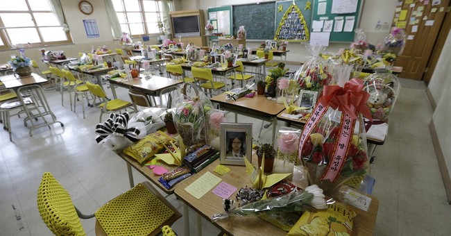 Classrooms are shrine, refuge after S. Korean ferry disaster