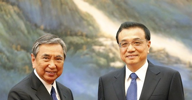 Amid tensions, Chinese premier meets Japan delegation