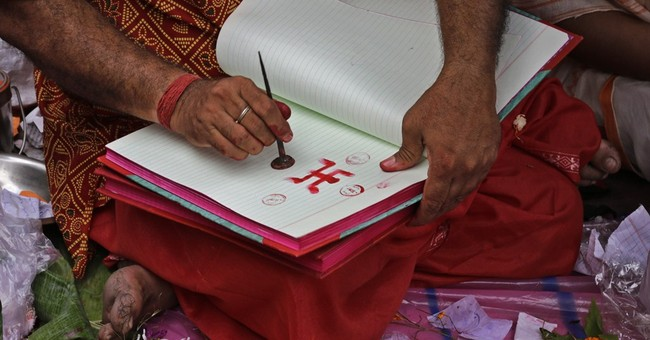 Image of Asia: Opening an account book for the new year