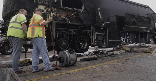 Lady Antebellum tour bus catches fire along Texas interstate