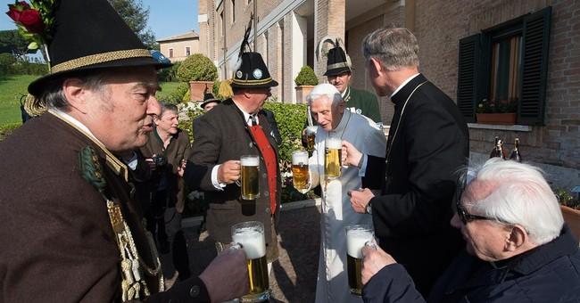 Pope Benedict XVI celebrates 88th birthday with party, pint
