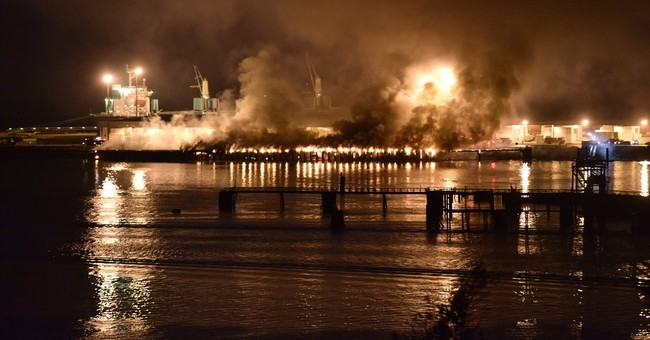 Fire breaks out at deep-water terminal in Canada