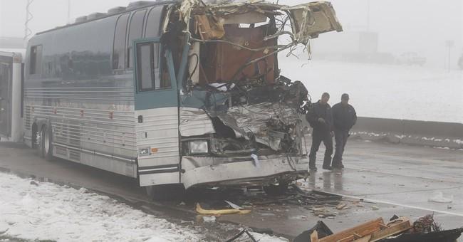 12 hurt in Denver-area crash involving tour buses amid fog
