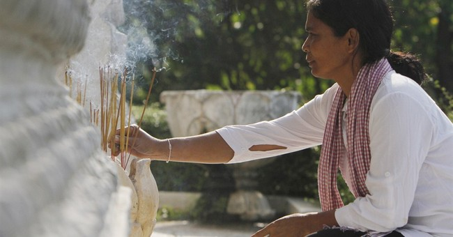 Image of Asia: Incense in memory of the Khmer Rouge victims