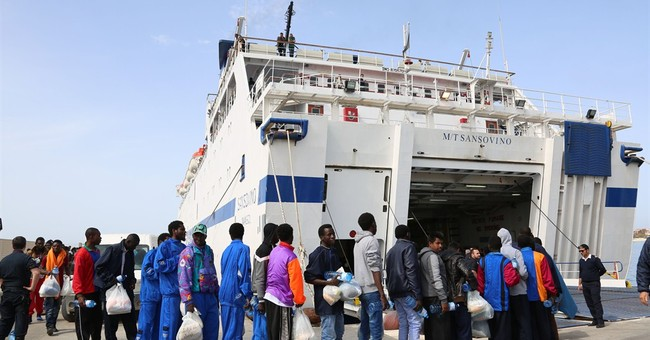 Amid growing migrant crisis, 20 burn victims rescued at sea