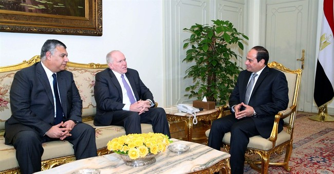 Egypt's president meets CIA director in Cairo for talks