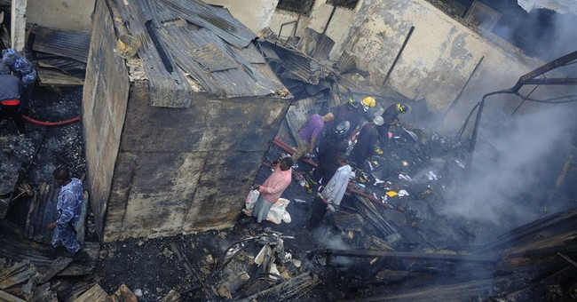 Fire damages historic hotel in Ethiopia