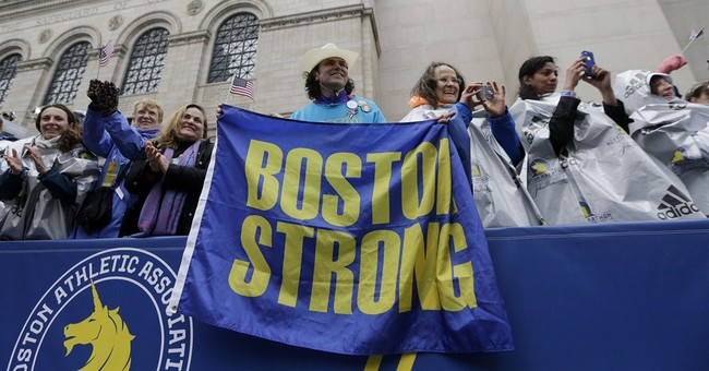 2 years after bombings, a festive Boston Marathon mood