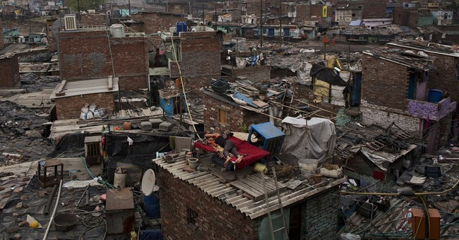Image of Asia: A rooftop refuge in a New Delhi slum