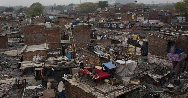 Image of Asia: A rooftop refuge in a New Delhi slum