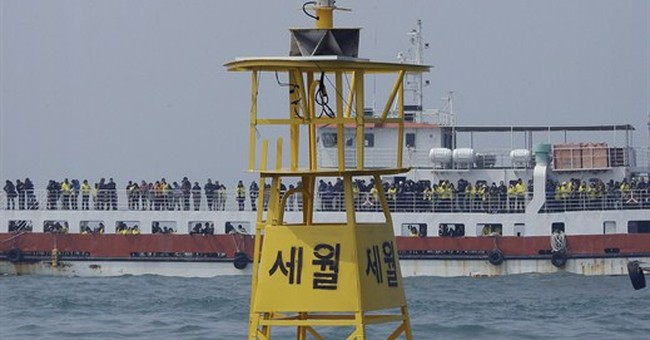South Korea ready to start work to salvage sunken ferry