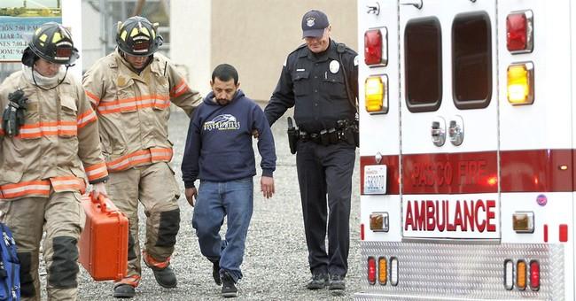 APNewsBreak: Officer who shot man dragged him from fire