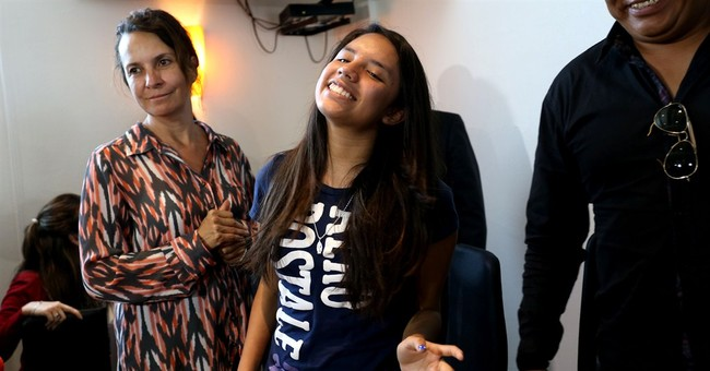 Mexican girl wrongly sent to US returns to celebration