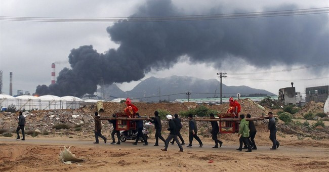 Chinese officials blame chemical plant bosses for explosion
