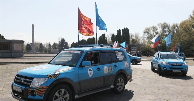 Russian car rally honors Soviet soldiers fallen in Poland