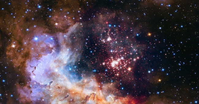NASA releases picture of starry fireworks for Hubble's 25th