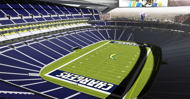 Proposed Los Angeles-area NFL stadium boasts lightning bolts