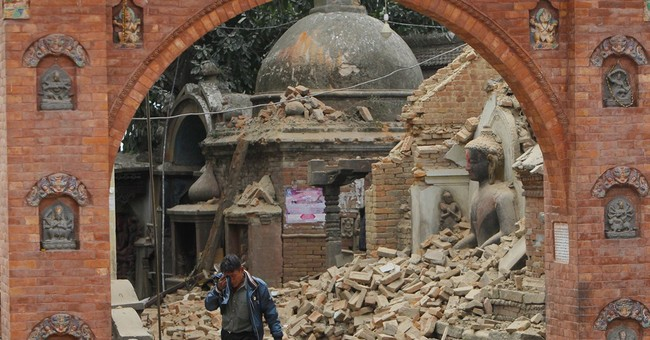 Image from the quake: Heavy damage in Nepal ancient city