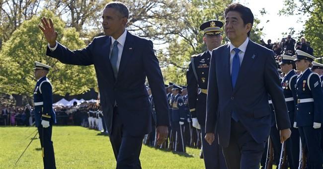 Obama, Abe declare progress, but no breakthrough, on trade