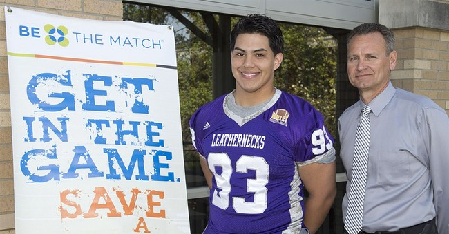 College football player to be bone marrow donor for infant