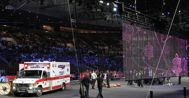 Circus returns to Rhode Island year after hair-hanging fall