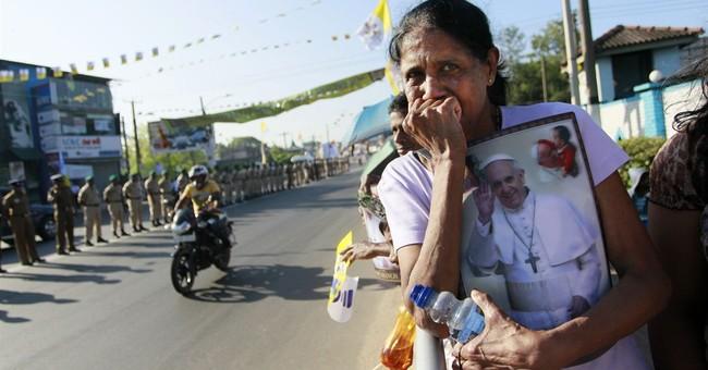 Pope arrives in Sri Lanka at start of Asian tour