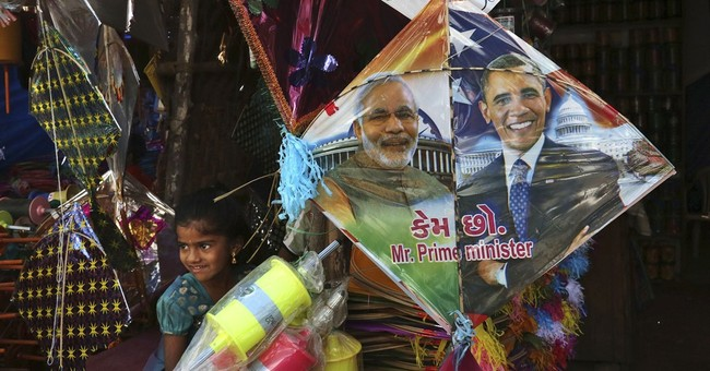 Image of Asia: Celebrating kite festival and Obama visit