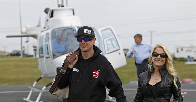 NASCAR driver accused of abuse says ex is trained assassin
