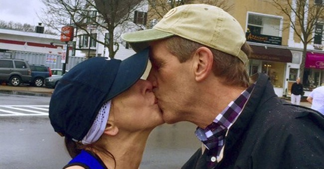 Boston Marathon runner seeking man she kissed on a dare