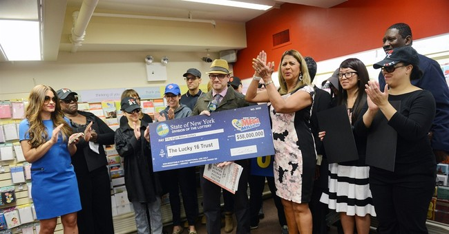16 co-workers at New York company split $58M lottery jackpot