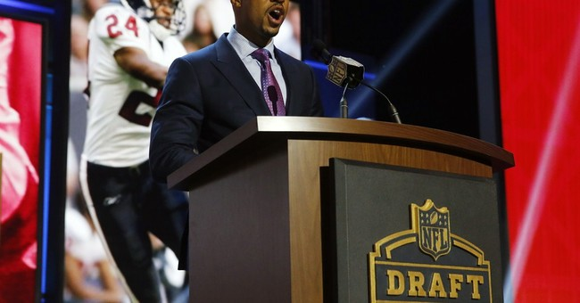 The Latest: Draft's third round draws to a close