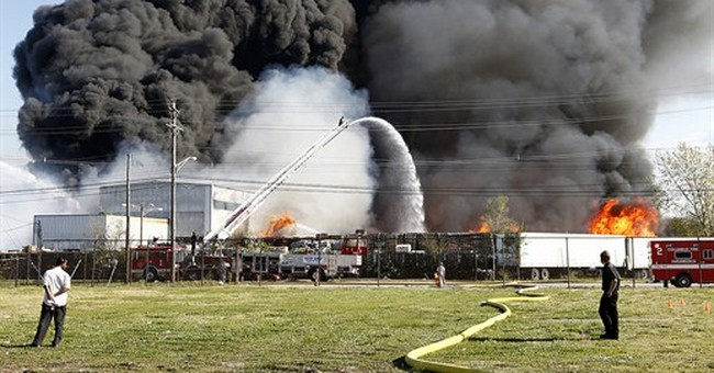 Investigators seek cause of Ohio recycling facility fire
