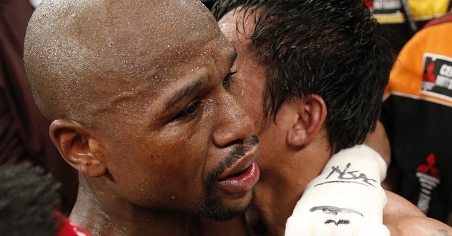 Mayweather wins decision in richest fight ever