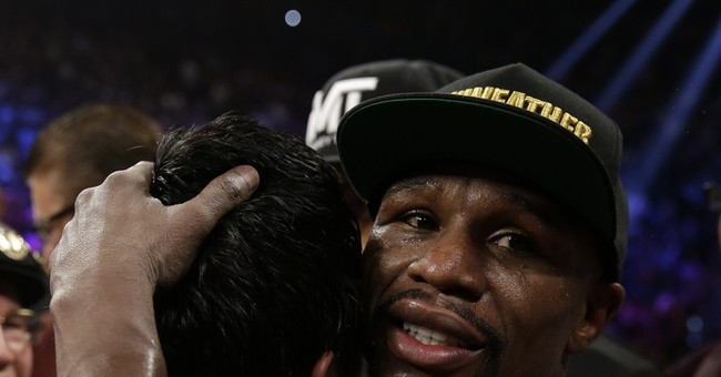 Mayweather takes his $100 million check and runs
