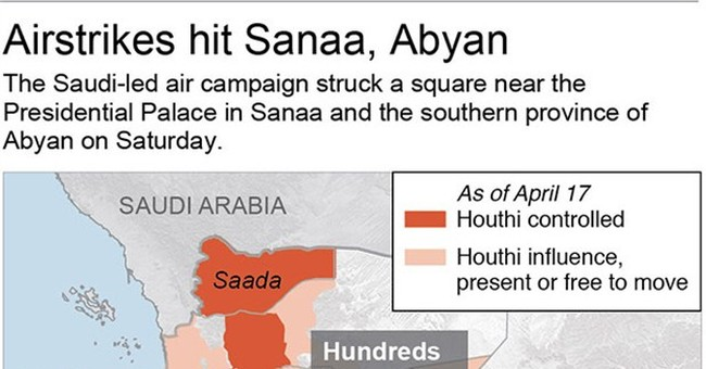 Yemen rebels fire into Saudi Arabia, killing at least 2