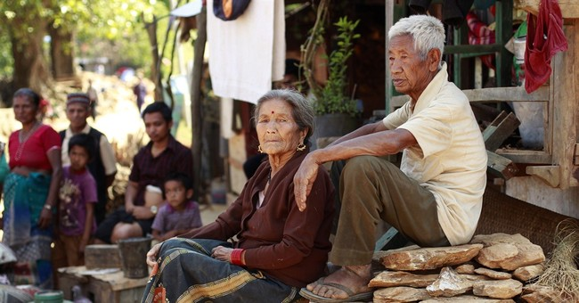 An elderly Nepali villager, and memories of the 1934 quake