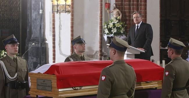 EU, German heads at funeral of former Polish FM Bartoszewski