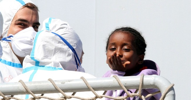 Italian ships rescue nearly 6,800 migrants; baby born at sea