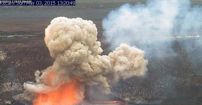 Crater collapse causes lava explosion on Hawaii's Kilauea