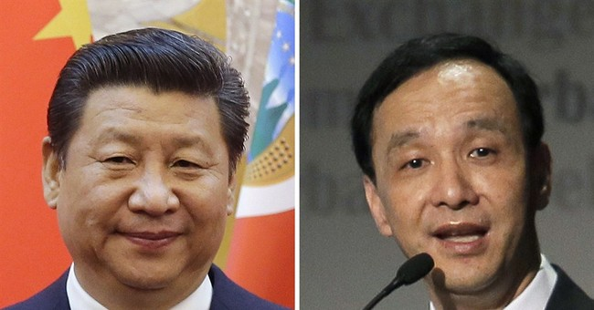 In China, Taiwan party leader calls for more global access
